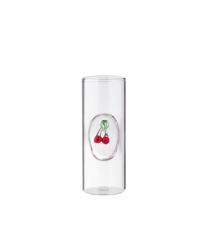 Bicchiere grappa e distillati con frutto Ciliegia