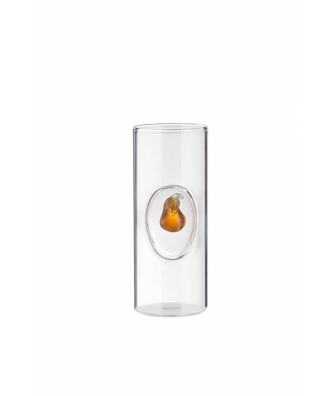 Bicchiere grappa e distillati con frutto Pera