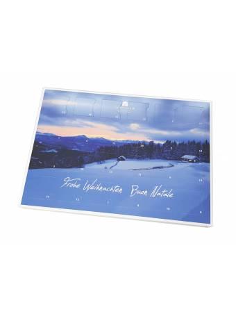 Calendario natalizio 2020 con cioccolatini ripieni di grappa - Distilleria Unterthurner