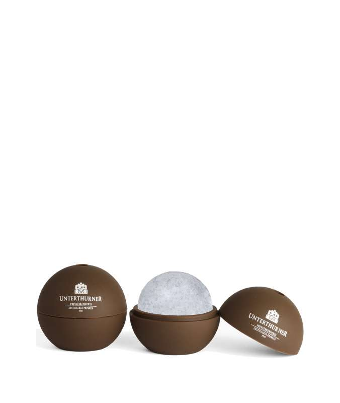 Stampo palla di ghiaccio per Cocktails, Gin e Rum. Originale dalla Distilleria Unterthurner